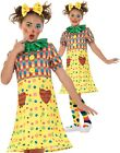 Girls Clown Costume Childs Circus Fancy Dress Kids Rainbow Funny Outfit New