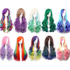4 Styles Cosplay Party Synthetic Fiber 70CM Long Curly High-temperature Fashion