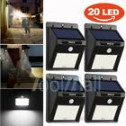 4 Pack - Solar Power Sensor Wall Light Security Motion Weatherproof Outdoor Lamp