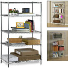 5 Tier Metal Chrome Kitchen Garage Storage Shelving Wire Rack 2x 3x 4x 5x 6x Pcs