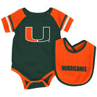 Miami Hurricanes Colosseum Roll-Out Infant One Piece Outfit and Bib Set