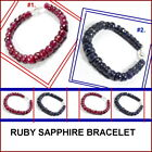 Ruby OR Sapphire Bracelet Choose your stones although both are nice