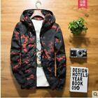 Men's Camouflage jacket Casual Hooded thin Jacket Slim Fit Coat Youth Outwear