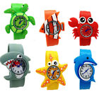 Cute Boys Girls Kids Baby Cartoon Animals Crab Quartz Wrist Watches