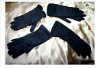 TRUE VINTAGE Morley Dents Ladies GLOVES 6.5 wrist length 60s 50s BLACK 4 styles