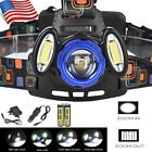 Zoom 25000 LM 3X XML T6 LED Hradlamp Flashlight Headlight Torch +2x18650+Charger