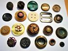 20 Early Buttons Excavated, Upstate N.Y., Old Factory Site - Great Variety.