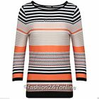 Ladies Ex-M&S Aztec Print Round Neck 3/4 Sleeve T-Shirt Sale Now Only £6.99