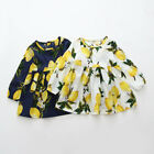Toddler Baby Girl Kids Spring Clothes Long Sleeve Party Floral Top T-Shirt Dress