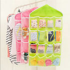 16 Pockets Clear Over Door Hanging Bag Socks Rack Hanger Storage Organizer Save