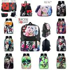 DC Suicide Squad Backpack Harley Quinn The Joker Nylon School Laptop ShoulderBag