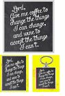 LORD GIVE ME COFFEE TO CHANGE THE THINGS JUMBO FRIDGE MAGNET/KEYRING/COASTER NEW