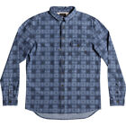 Quiksilver Full Rail Mens Shirt Long Sleeve - Indigo All Sizes