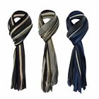 U478 MENS RETRO MULTI COLOUR DESIGNER VERTICAL STRIPE COLLEGE SCARF GIFT IDEA