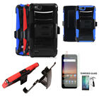 Phone Case For ZTE Zfive G / ZTE Zfive C Tempered Glass Screen Holster Cover