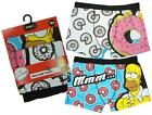 Mens PACK of 2 Simpsons Homer Donut Trunk Fit Boxer Short Briefs S or L