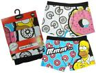Mens PACK of 2 Simpsons Homer Donut Trunk Fit Boxer Short Briefs S M L XL