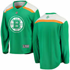 Fanatics Branded Boston Bruins Green St Patricks Day Replica Blank Jersey
