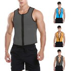 Mens Sauna Vest Body Belly Shaper Sport Slimming Zip Belt Corset Neoprene Sweat