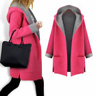 Womens Autumn Winter Warm Long Sleeve Hooded Coat Jacket Cardigan Outerwear