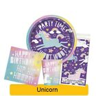 UNICORN Birthday Party Tableware, Banners, Balloons & Decorations (UNIQUE)