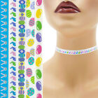 Easter Choker 3/8 inch (9 - 10 mm) Custom necklace bunny eggs jelly beans satin