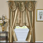 Multi-Color Striped Modern Semi-Sheer Window Curtain Drape Panel Scarf Valance