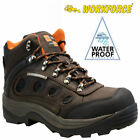 WF4 Waterproof  Brown Leather Steel Toe Cap Safety Work Boots.