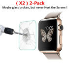 2-PACK Premium Tempered Glass Screen Film Protector For Apple Watch 38mm 1/2/3 #