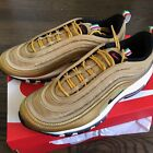 Nike Air Max 97 Italy Gold Metallic Bullet 100% Authentic AJ8056-700