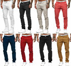 Herren Chino Jeans Regular Fit Schlicht Stretch Stoff W29-W38