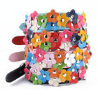 Small Pet Collar Cat Dog Puppy Flower Leather Adjustable Necklace Collars Buckle