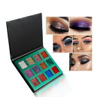 Girl Glitter sequin pressed Eyeshadow Rainbow Cosmetics pressed shadow 12 colors