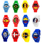 2018 World Cup Silicone Wristwatch Unisex National Flags Commemorative Watch