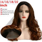14-22'' Lace Front Wigs Gold Ombre Bob Two Tone Wave Wig Baby Hair Pre Plucked
