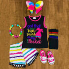 baby boutiques in shreveport la - Boutique Kids Baby Girl Sleeveless T-shirt Top Stripes Shorts Outfits Clothes US