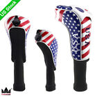 USA Flag Golf Driver Fairway Wood Hybrid/UT Head Cover for Taylormade Cobra PING