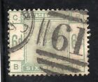 VICTORIA 1884 6d DULL GREEN SG 194 REASONABLE USED CAT £240