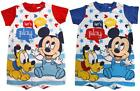 Boys Baby Shorts Romper Disney Mickey Mouse & Pluto Playsuit 6 to 24 Months