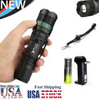 Ultrafire T6 LED Flashight Torch 15000LM Zoom Focus Lamp+18650Battery+Charger/