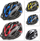 US Sports Cycling Bicycle Adult Mens Bike Helmet Red Carbon With Visor Mountain