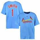 Majestic Ozzie Smith St. Louis Cardinals Light Blue Big & Tall Cooperstown Name