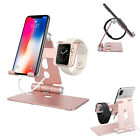 2 in 1 Foldable Aluminum Charger Holder Stand Charging Dock Station For iWatch