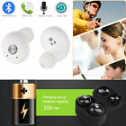 Wireless Mini TWS True Bluetooth Twins Stereo In-Ear Headset Earphone Earbuds