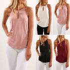 Womens Fashion Girls Sleeveless Vest Casual Tank Tops Fitted T-Shirts Tee