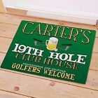 Personalized Golf Doormat 19th Hole Doormat Golfer Golf Lover Door Mat 2 sizes