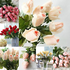 Real Touch Latex Rose Flowers Buds 10/20 Heads Wedding Party Bouquet Flower Gift