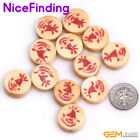 17mm Coin Yellow White Hand Carving Buffalo Bone Beads For Jewelry Making 12 Pcs
