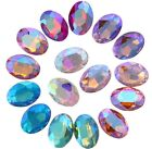 80PCS Mixed Colors AB Pointed OVAL Fancy Glass Stones
