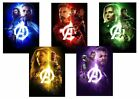 AVENGERS INFINITY WAR Captain America, Vision +  Textless A5 A4 A3 PROMO poster